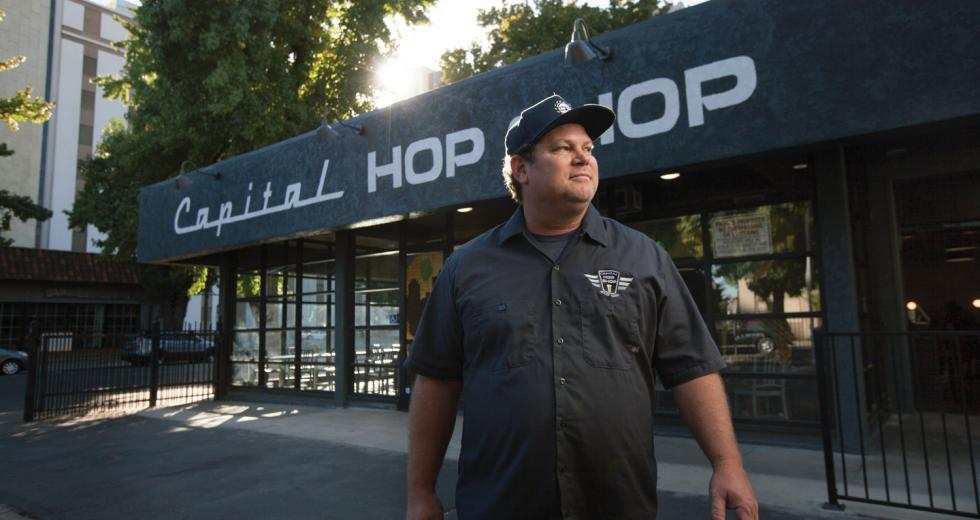 Kenny Hotchkiss co-owns the newly opened Capital Hop Shop on I Street. Photos: Ryan Angel Meza